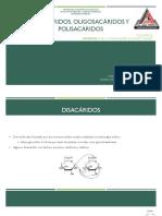 Disacáridos, Oligosacáridos y Polisacáridos