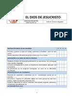 El Dios de Jesucristo - Ficha de Evaluación