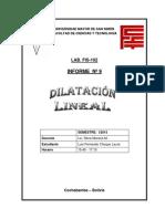 Dilatación Lineal