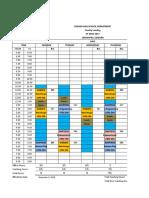 Faculty Schedule