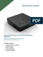 Cisco SPA100 Series Quick Start Guide