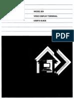 T.I Model 924 Video Display Terminal Users Guide Jan87