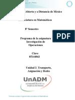 U3. Transporte, Asignacion y Redes