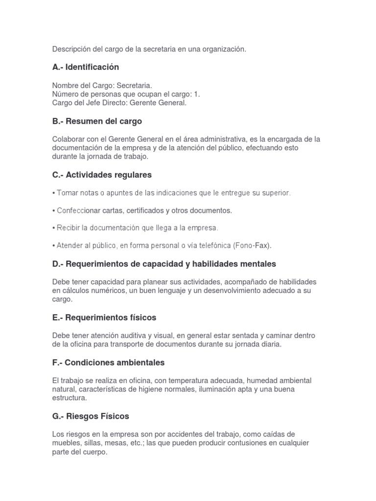 Atractivo Resumen De Descripción De Trabajo Patrón - Ejemplo De ...