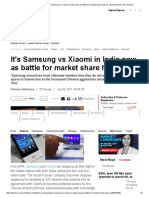 India Smartphone Market_ It's Samsung vs Xiaomi in India Now as Battle for Market Share Hots Up, Telecom News, ET Telecom