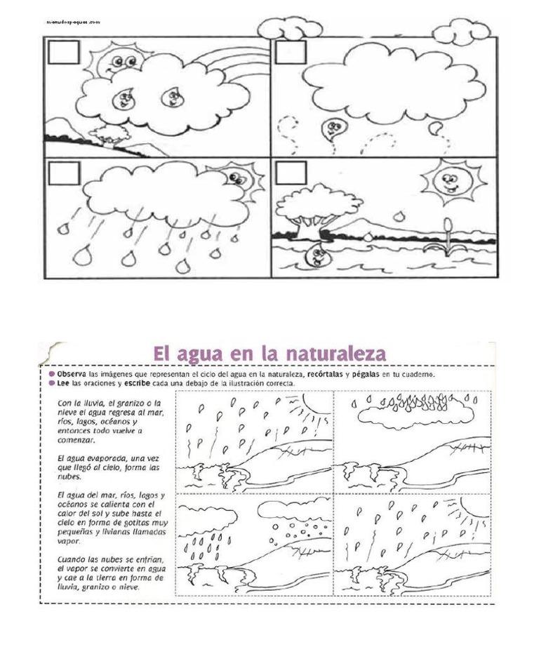 Ciclo Del Agua Ficha Para Recortardocx