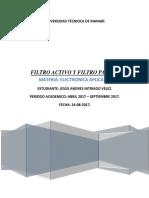 Filtro Activo y Filtro Pasivo.