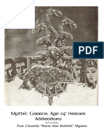 Mythic Greece Addendum to Rolemaster's RPG Campaign