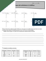 Technique de La Division à 2 Chiffres Cm1 Exercices à Imprimer