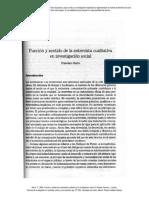 Fco. Sierra - Función y sentido de la entrevista cualitativa