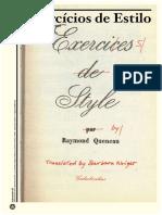 Rene Queneaux - Exercícios de Estilo