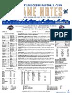 8.27.17 vs. JAX Game Notes