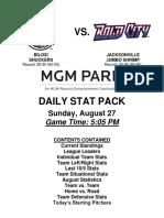 8.27.17 vs. JAX Stat Pack
