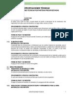 Especificaciones tecnicas agua Modelo Numeracion Automatica