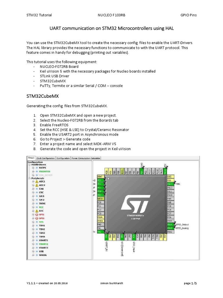 STM32 Tutorial 03 - UART Communication Using HAL (and FreeRTOS