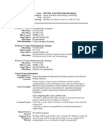 UT Dallas Syllabus for biol5420.001.10f taught by Jeff De Jong (dejong, hannig, jgonzal)
