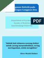 Dr. Herdy Munayang, MS - Penanganan Holistik Gangguan Jiwa
