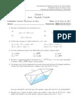 Lista de exercícios - Cálculo 1