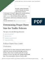 Determining Proper Burst Size for Traffic Policers - Technical Documentation - Support - Juniper Networks