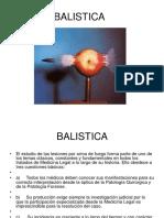 Presentacion Balistica y Heridas Por Armas de Fuego