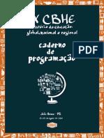 Caderno de Programação - IX CBHE - 2017