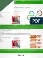 QUESTÃO 22 PROVA 5 PETROBRÁS 2014 COMENTADA | Química Para Concurso Técnico de Operação da Petrobrás
