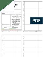Formato Para Control de Tareas 2017 - 2018