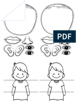 Body Parts Worksheets Pk y k
