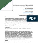 Informe de Densidad de Liquidos y Solidos.