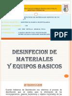 Desinfeccion de Materiales Basicos