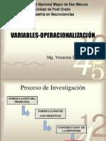 Variables OperacionalizaciÓn (1)