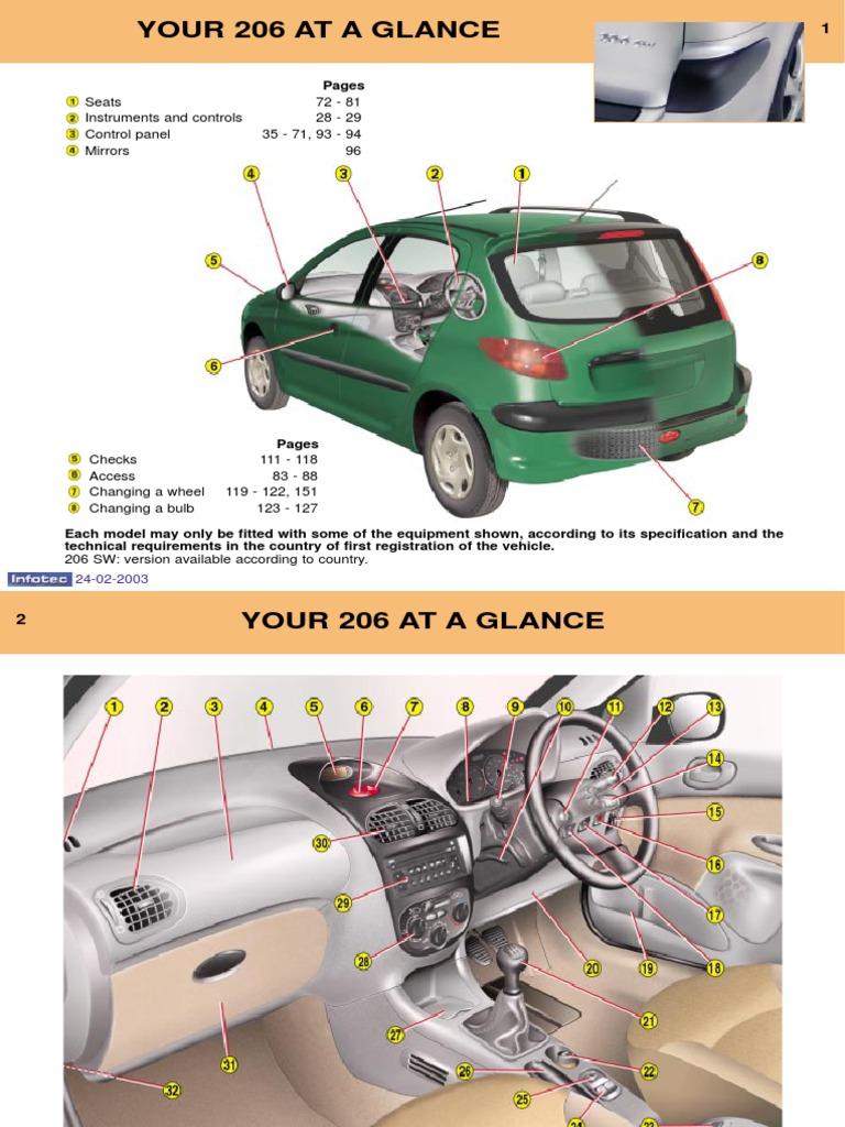 peugeot 206 owners manual 2003 airbag anti lock braking system rh es scribd com Peugeot 308 Peugeot 406