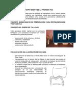 Principio Basico de La Protesis Fija