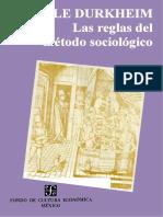 Durkheim Emile - Las Reglas Del Metodo Sociologico