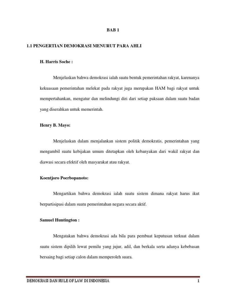 demokrasi dan rule of law bab 1 3 docx