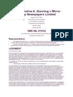 Mirror Newspapers Ltd v Gunning [1986]