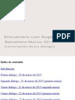Encuentro Rupert - Marzo 2015 - Rupert Spira