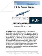 Petersen 262-2040 Hot Tapping Machine Operations Manual
