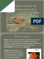 Conceptos mineros.