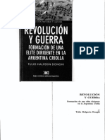 Halperin Donghi Revolucion y Guerra