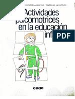 Actividades Psicomotrices en La Educación Infantil Josep Coral