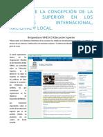 Análisis de La Concepción de La Educación Superior en Los Contextos Internacional