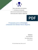 Propuestas Para El Municipio Arismendi Estado Nueva Esparta