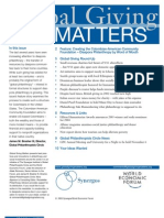 Global Giving Matters Aug.- Sept.'03 Issue 13