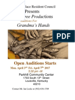 Tail- Tree Productions Grandmas Hands Auditionflyers