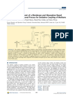 Design and Assessment of a Membrane and Absorption Based Carbon Dioxide Removal Process for Oxidative Coupling of Methane