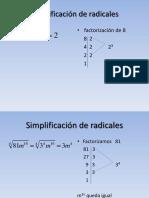Simplificacin de Radicales