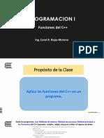 PROGRAMACION I Semana11_Sesion3 Funciones Procedimientos Ejercicios