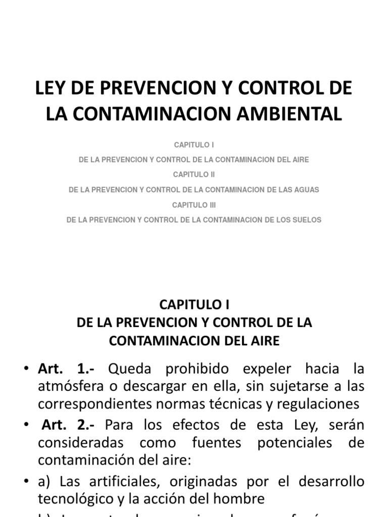 Ley de Prevencion y Control de La Contaminacion