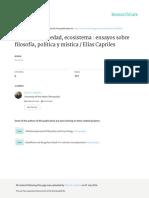 Individuo, Sociedad y Ecosistema. Elías Capriles.